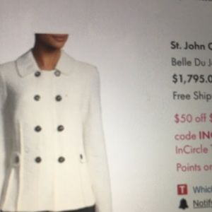 Classic and sophisticated wool knit jacket St John